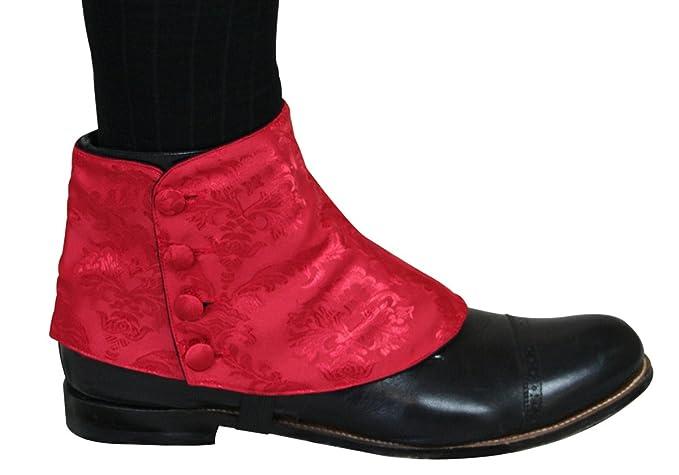 Victorian Men's Shoes & Boots- Lace Up, Spats, Chelsea, Riding Jacquard Button Spats $31.95 AT vintagedancer.com