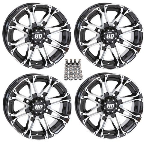 STI HD3 ATV Wheels/Rims Machined 14″ Can-Am Commander Maverick Renegade Outlander (4)