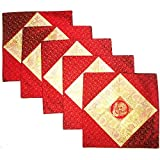 Kriti Creations Set Of 5 Scarlet Cushion Covers (16*16 IN)