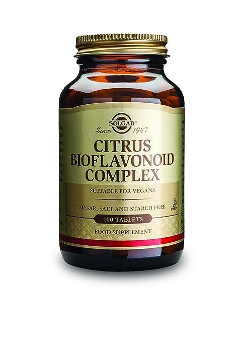 Solgar Citrus Bioflavonoid Complex Tablets, 1000 Mg, 100 Count
