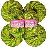Vardhman Acrylic Knitting Wool, Pack Of 6 (Multi Green) (Pack Of 10)