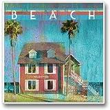 "Relax At The Beach 3 Single Coaster 3.6"" Sq. X .3"" D"