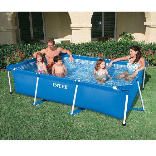 INTEX Familienpool 220x150x60 cm, blau, sehr stabil, schneller Auf-und Abbau // Metal Frame Pool Schwimmbecken Swimmingpool Swimming Quick Up