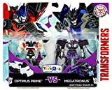 Transformers, Robots In Disguise, Optimus Prime vs. Megatronus Action Figures, 3 Inches