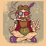 Seven Rays Peace Baba Pin Up (Medium) Poster