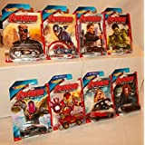 Mattel Hot Wheels Marvel Avengers, Age Of Ultron Cars ,All 8 Cars Included