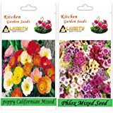 Alkarty Poppy Californian Mixed And Phlox Mixed Seeds Pack Of 20 (Winter)
