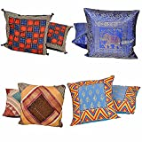 Jaipur RagaRajasthani Design Four Sets Of 2 Piece Colorful Cushion Covers Combo