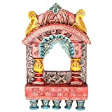 Rajgharana Handicrafts Multi Color Wooden Small Jharoka - (15 Cm X 12 Cm)