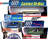 James Bond Set Kenworth Tanker Truck Licence to kill Jaguar XKR Roadster Die Another Day & Renault View to a Kill 007 Car Set Corgi + Playing Card Pack