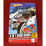 Hot Wheels 3-in-1 Card Game Set In Deluxe Tin Box