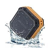 [防水/耐震Bluetoothスピーカー]OmakerM4Bluetoothスピーカー Bluetooth4.0+EDR ストナップ付属 手軽にどこにも持ち運べる小型ブルートゥーススピーカー 大容量リチウム充電池内臓 クリアサウンド再生するポータブルスピーカー(オレンジ) [並行輸入品]