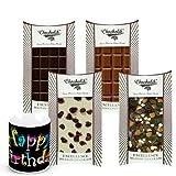 Chocholik Luxury Chocolates - Retro Collection Of Yummy Chocolates Bars With Birthday Mug