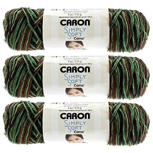 Bulk Buy: Caron Simply Soft Camo Yarn (3-Pack) Renegade Camo