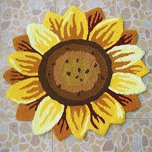Sunflower Floral Shaped Rug