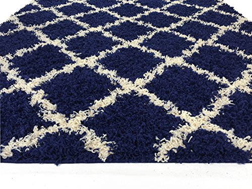 blue shag rug navy blue trellis shag area rug rugs shaggy collection 11071