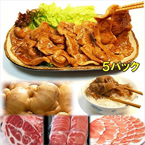 豚の生姜焼 5食 惣菜 お惣菜 おかず 惣菜セット 詰め合わせ お弁当 無添加 京都 手つくり