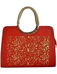 Gouribags PU Handbag (Pink) - B01BPDDESA