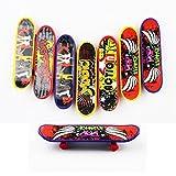 Goodlucky365 Professional Mini Fingerboards Finger Skateboard -8 Pack Random Pattern