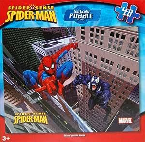 Amazon.com: Spiderman 48-Piece Lenticular 3D Puzzle