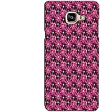 PrintVisa Designer Back Case Cover For Samsung Galaxy On Max (Maroon Heart Pattern)