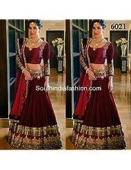 Chaayakar Women's Anarkali Net Lehenga Choli Saree Suit