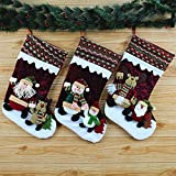 Generic A Snowman : Christmas Socks Gift Bags Santa Claus Gift Bags High-end Stereo Christmas Gift Bag Decoration...