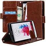 LG G4 Case, LG G4 Cover Flip Folio Wallet Full Body Protection With Stand Feature By E LV For LG G4 - BROWN