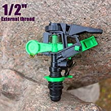 "Generic 1I2 Inch : 5pcs 1/2"",3/4"" Impact Drive Sprinkler Adjustable Nozzle Rotating Nozzle Rotational Sprayer..."