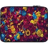 Snoogg Digital Floral Kenzie 12 To 12.6 Inch Laptop Netbook Notebook Slipcase Sleeve