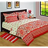 House This 100% Cotton Outer, Inner Polyfill Double Comforter Archives Red