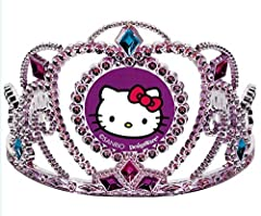 Amscan Hello Kitty Rainbow Electroplated Tiara, Plastic