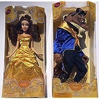 Disney Princess Belle Classic Doll & The Beast Classic Doll Bundle
