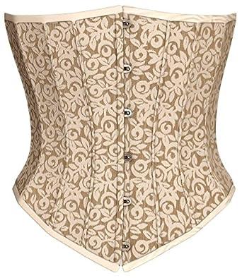 Victorian Style Corsets- Custom, Costume & Patterns Steel Boning Underbust Fashion Corset Waist Cincher  AT vintagedancer.com