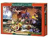 Elegant Still Life with Flowers, Eugene Bidau, 2000 Piece By Castorland Puzzles