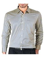 Modo Men's Slim Fit Formal Shirt -Blue - B011I248HE