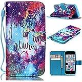 6S Plus Case,iPhone 6S Plus Case,With Strap Wristlet Slim PU Leather Case Wallet Cases Magnetic Closure Case For... - B019C3GP5E