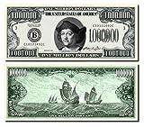 Al Pacino Scarface Million Dollar Bill - 10 Count with Bonus Clear Protector & Christopher Columbus Bill