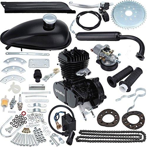 Iglobalbuy 26″ & 28″ Bicycle 48CC 49CC 50CC 2-Stroke Motor Engine Kit for Motorized Bicycle Black