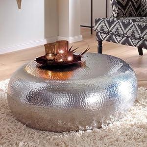 Couchtisch, rund, Aluminium, ca. Ø 80 cm: Amazon.de: Küche