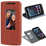 Motorola Droid Turbo Flip Case IVoler Smart Cover Window View Premium PU Leather Book Fold Stand Folio With Built-in...