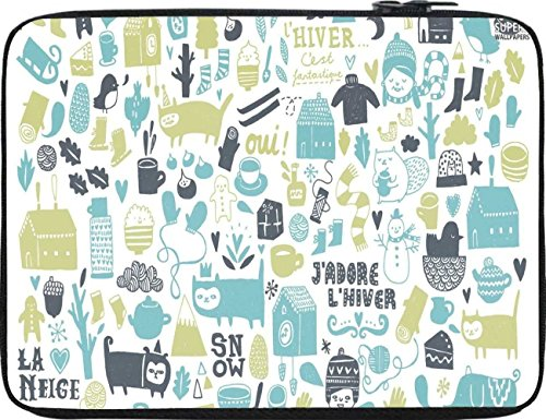 Snoogg Lifestyle Pattern 2562 12 To 12.6 Inch Laptop Netbook Notebook Slipcase Sleeve