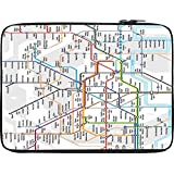Snoogg London Tube Map 12 To 12.6 Inch Laptop Netbook Notebook Slipcase Sleeve