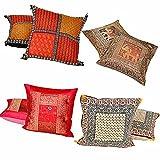 Jaipur RagaRajasthani Design Four Sets Of 2 Piece Stylish Cushion Covers Combo