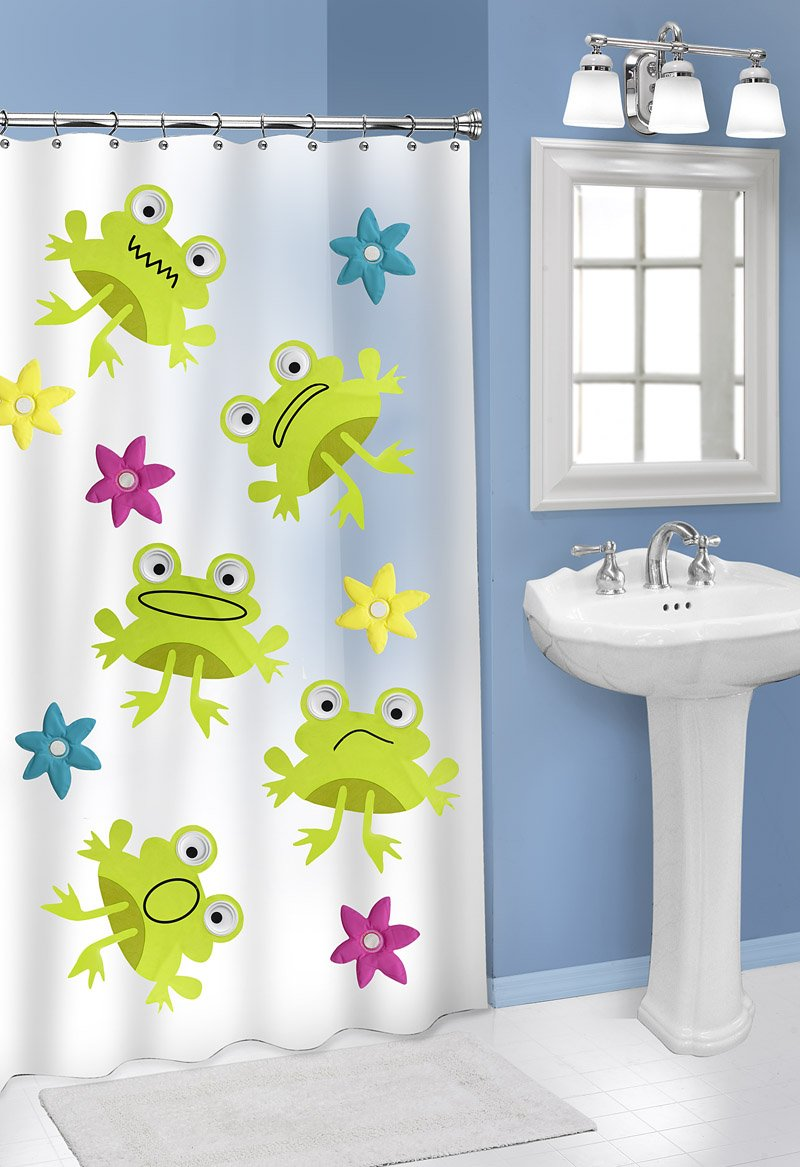 Frog Shower Curtain And Accessories Curtain Menzilperde Net