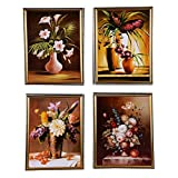 Eva Hanging Picture With Golden Frame -775 (set Of 4)