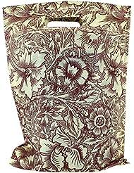 "Non Woven D Cut Bag-Flower Printed (10"" X 14""), Set Of 10 Pcs"