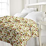 Renown Pretty Floral Print Reversible Poly Cotton Single Bed AC Blanket / Dohar
