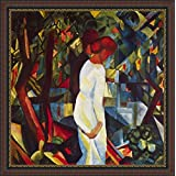 Couple In The Forest By Macke - ArtsNyou Printed Paintings - B00QA1FQES