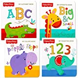 """Fisher Price """"My First Books"""" Set Of 4 Baby Toddler Board Books (ABC Book, Colors Book, Numbers Book, Opposites..."""